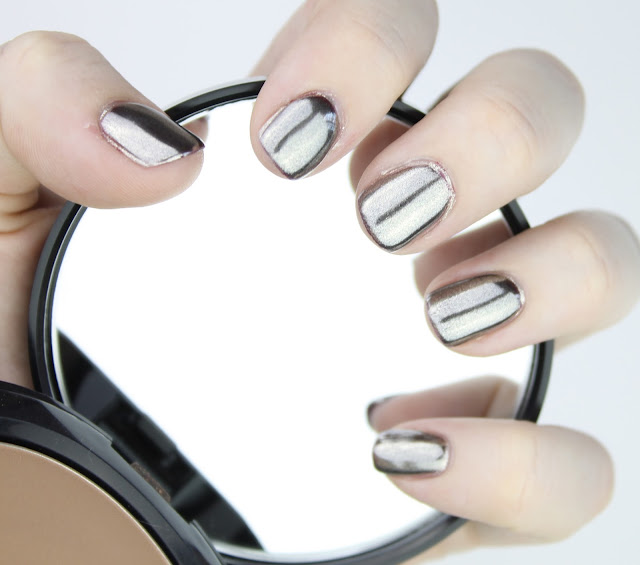 diy chrome silver mirror nails polish gel nail how to tutorial guide