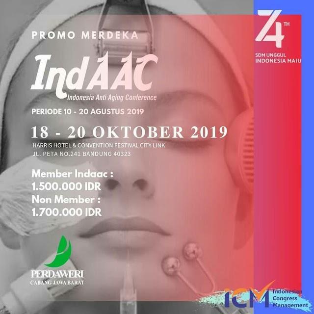 *IndAAC  ( Indonesia Anti Aging Conference )* PERDAWERI CABANG JAWA BARAT