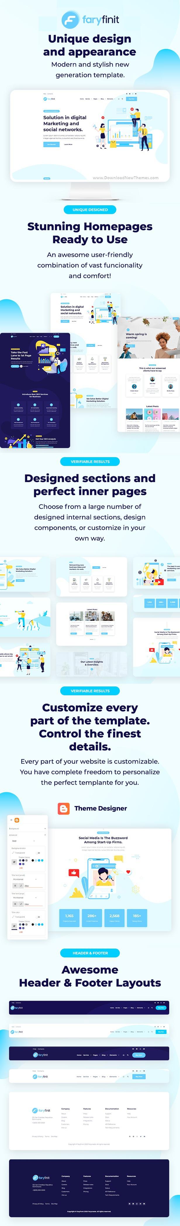Multipurpose Premium Blogger Template