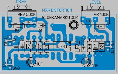 Membuat gitar efek stombox MXR Distortion