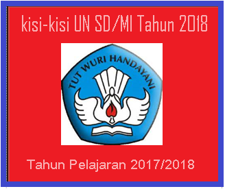download kisi-kisi UN SD/MI Tahun 2018 - SD SWASTA