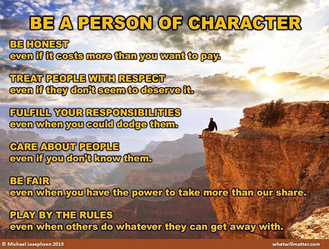 Be A Person Of Character - WhatWillMatter.com