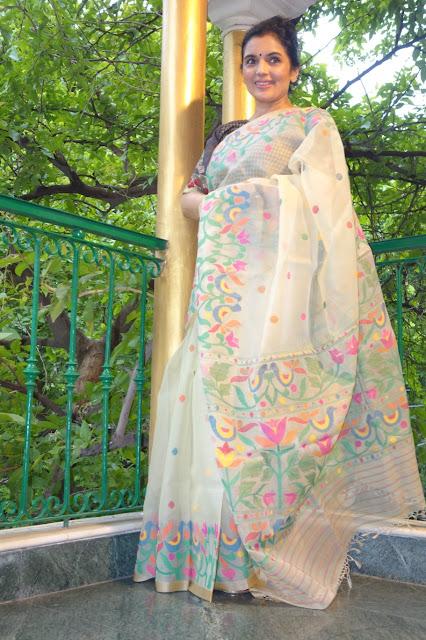 Silk Dhakai Jamdani saree