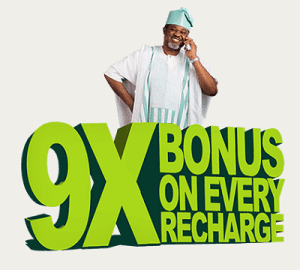 Get Full 9x Bonus on  9mobile: How to