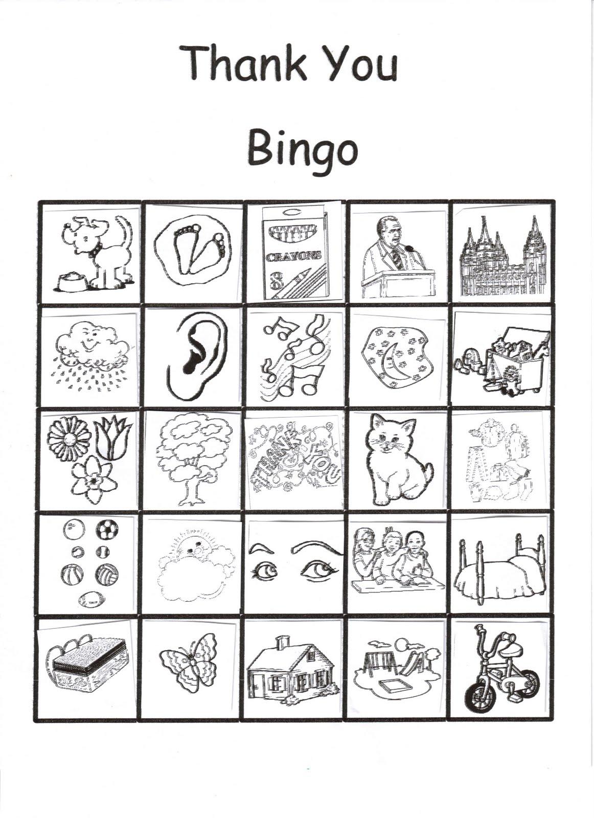 RobbyGurl's Creations: Thank You Bingo