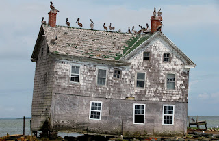 Last remaining house on Holland Island in Chesapeake Bay, MD