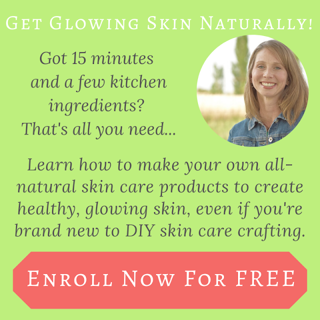 Learn how to make your own all-natural skin care products from scratch, using ingredients you have in your kitchen right now.
