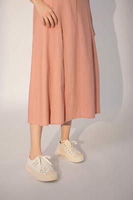 午後野遊跳舞中長裙-粉色