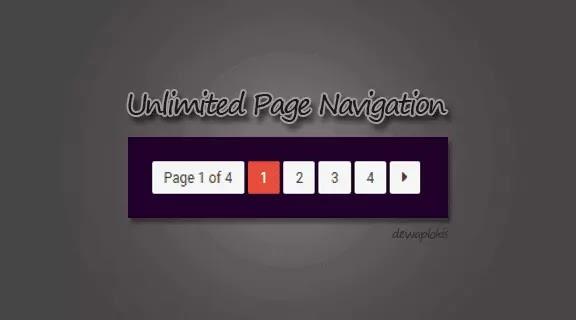 Cara Memasang Navigasi Halaman Unlimited Pada Blog