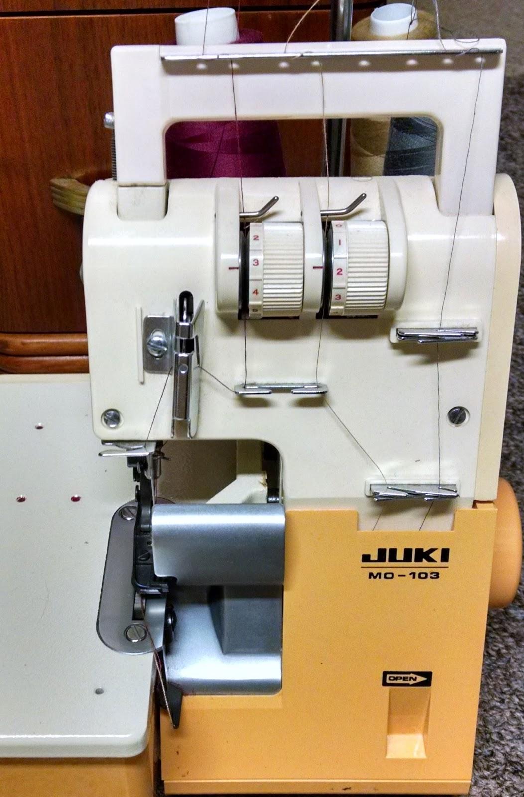 Juki MO134 Overlock Serger sewing machine manual t