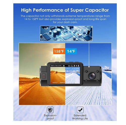 Vantrue N2S 4K Dual Dash Cam Car Dashboard Camera