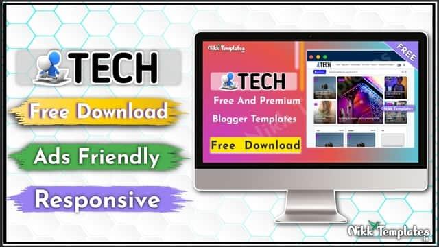 (Orginal) Tech - Blogger Template - Nikk Templates