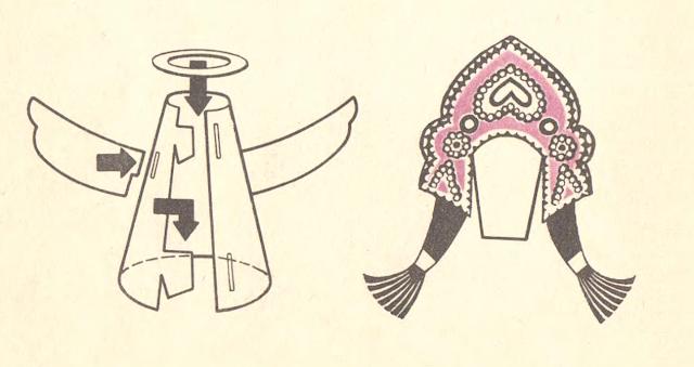выкройка куклы из бумаги