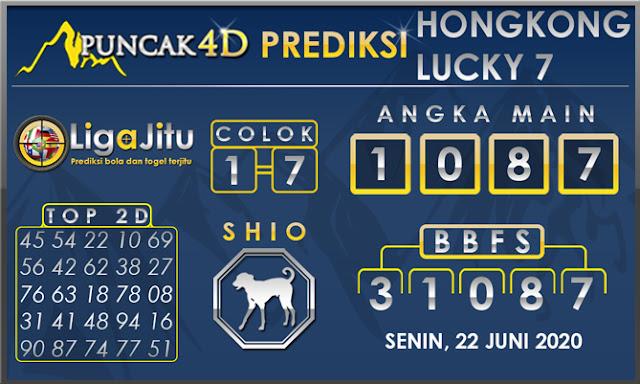 PREDIKSI TOGEL HONGKONG LUCKY 7 PUNCAK4D 22 JUNI 2020