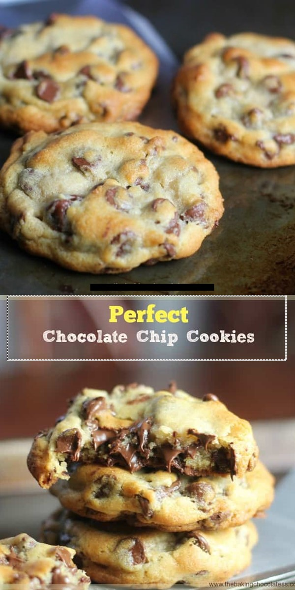Perfect Chocolate Chip Cookies #cookiesrecipes