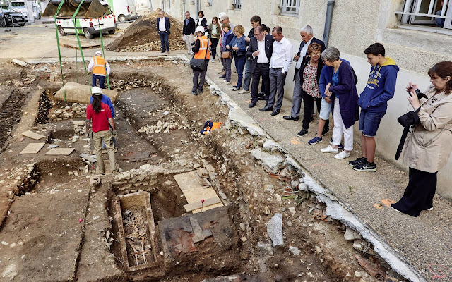 7th century Merovingian sarcophagus unearthed in Cahors