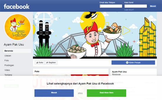 Akun Facebook Resmi Ayam Pak Usu