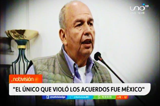 """Murillo: """"Movimientos sociales estarían tras de poder tomar residencia mexicana e incendiarla para sacar a Juan Ramón Quintana"""""""
