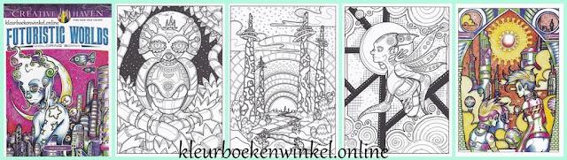 CH 192 kleurboek futoristic worlds