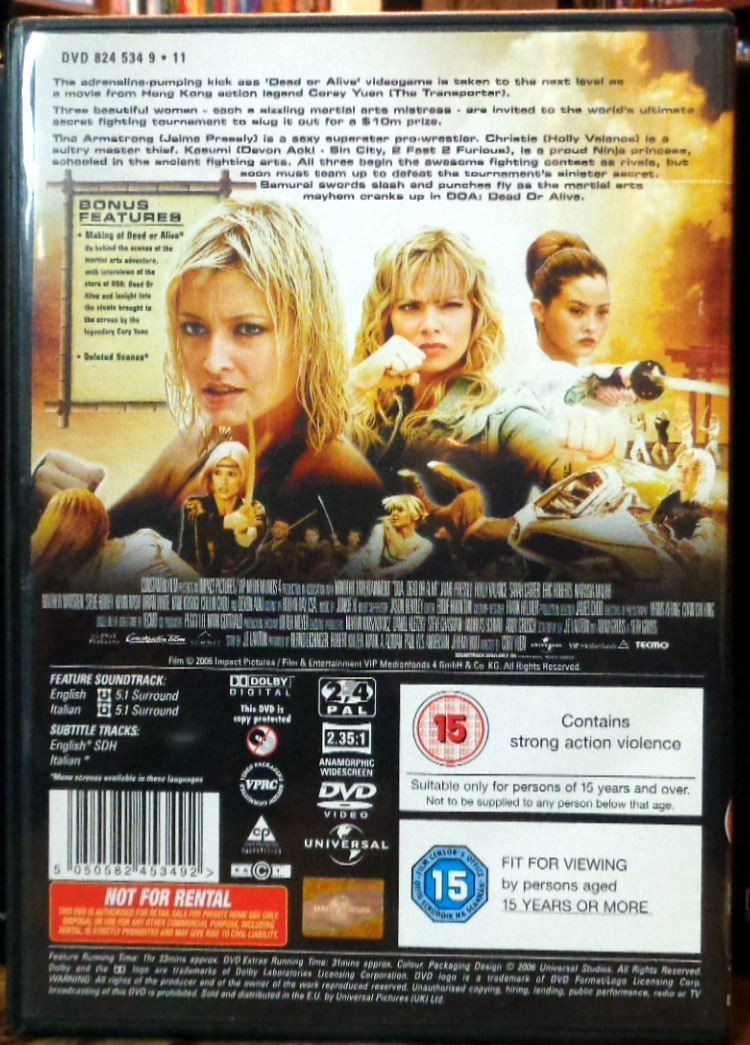 Movies On Dvd And Blu Ray D O A Dead Or Alive 2006