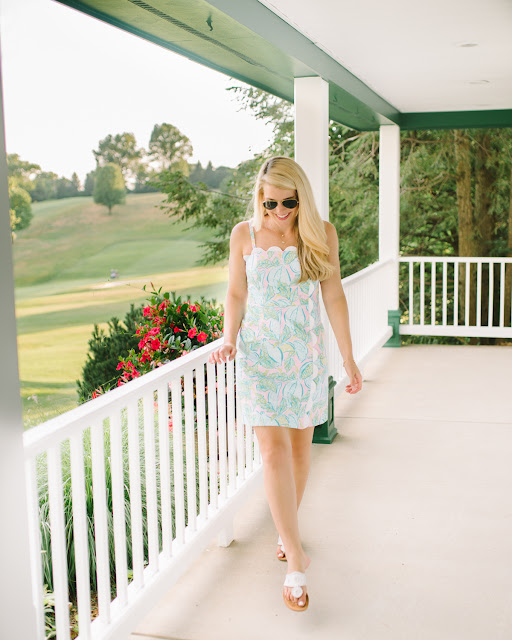lilly pulitzer MERCEDE SCALLOP STRETCH DRESS