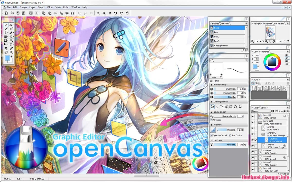 Download OpenCanvas 7.0.15 Full Cr@ck – Phần mềm đồ họa ảnh mạnh mẽ