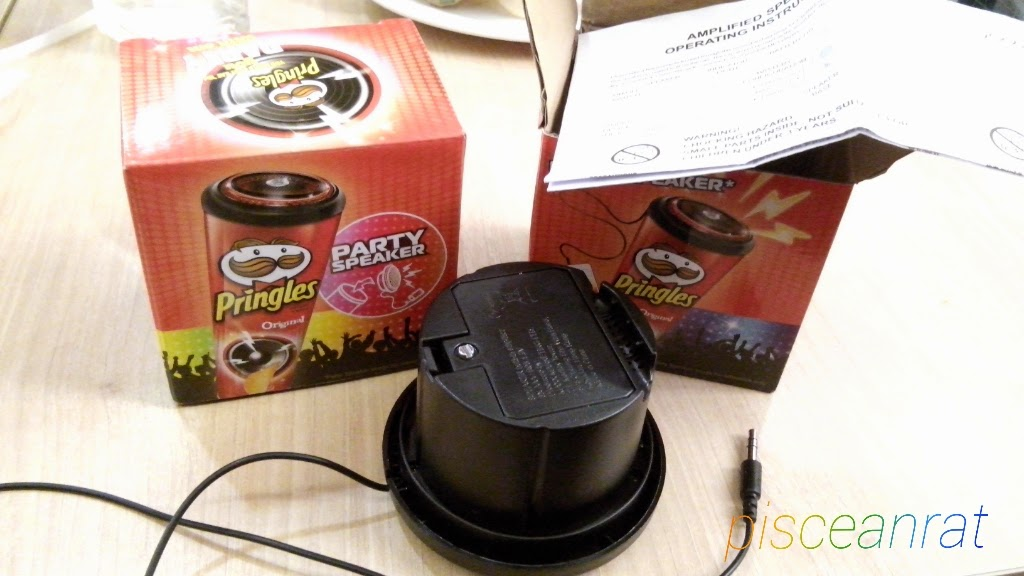 pringles party speaker review, pick up, no credit card,