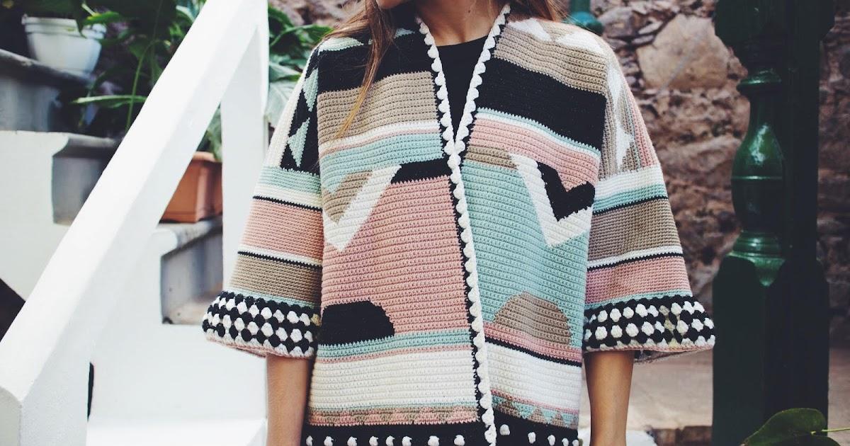 Patrón de ganchillo gratis: Rebeca oversize con Woolly Chic