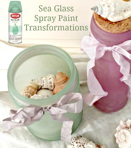 Sea Glass Spray Paint to Make Beach Jars