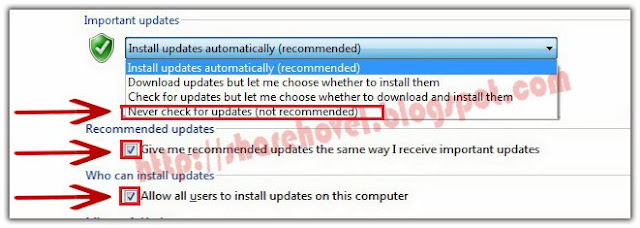 Step 4 - Cara Untuk Menonaktifkan Windows Auto Update Di Windows 7