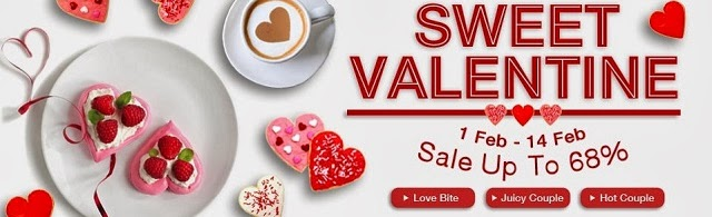 Current on-going Valentine Day promotion at Lazada.com.my with discounts of up to 68% on certain products