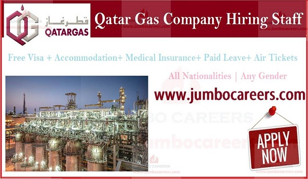 Qatar gas latest job and careers, Recent Qatar gas jobs with salary,