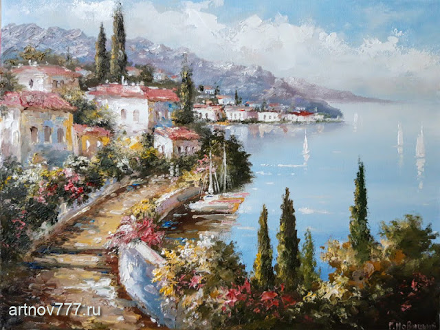 30х40см. Кипарисовый рай