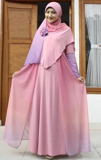 Fashion Tren Model Baju Gamis Sifon Simple Polos Terbaru