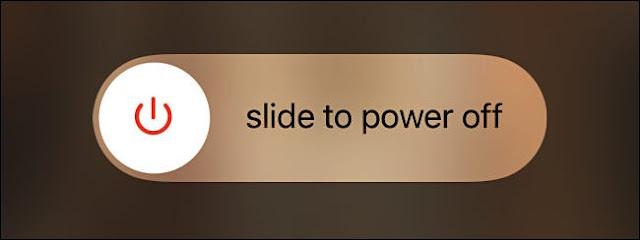 شريط التمرير Apple Slide to Power Off.