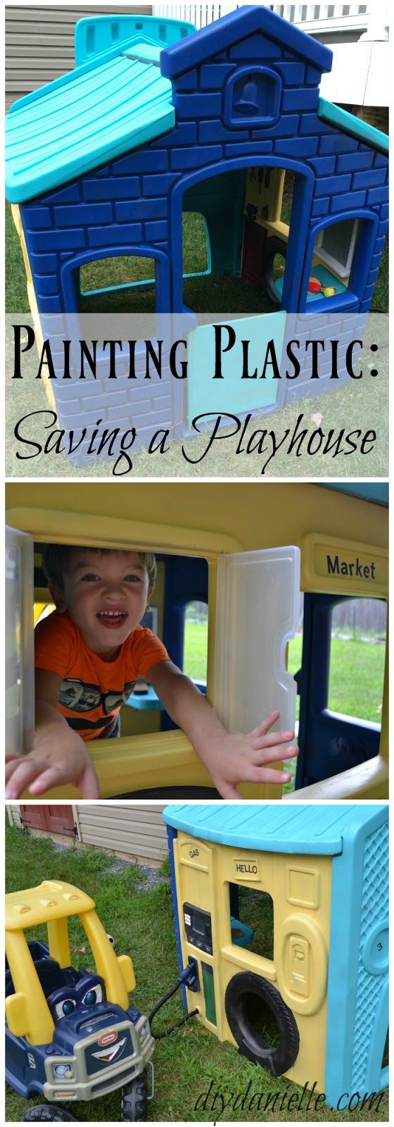 DIY Playhouse Refurbishing