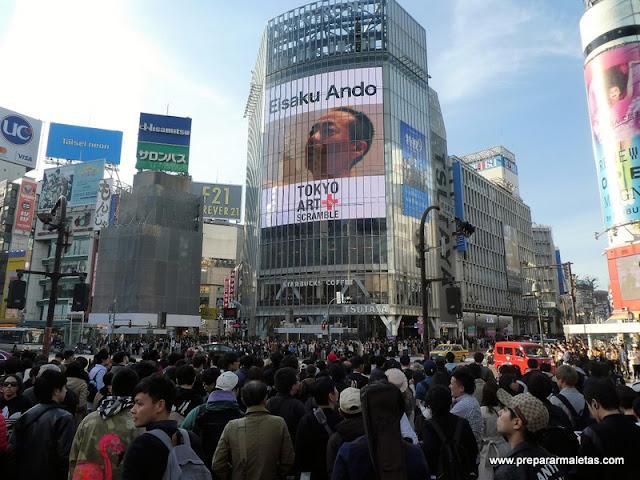 cruce de peatones en Shibuya Tokio