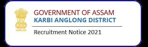 DC Office West Karbi Anglong Junior Assistant Recruitment 2021