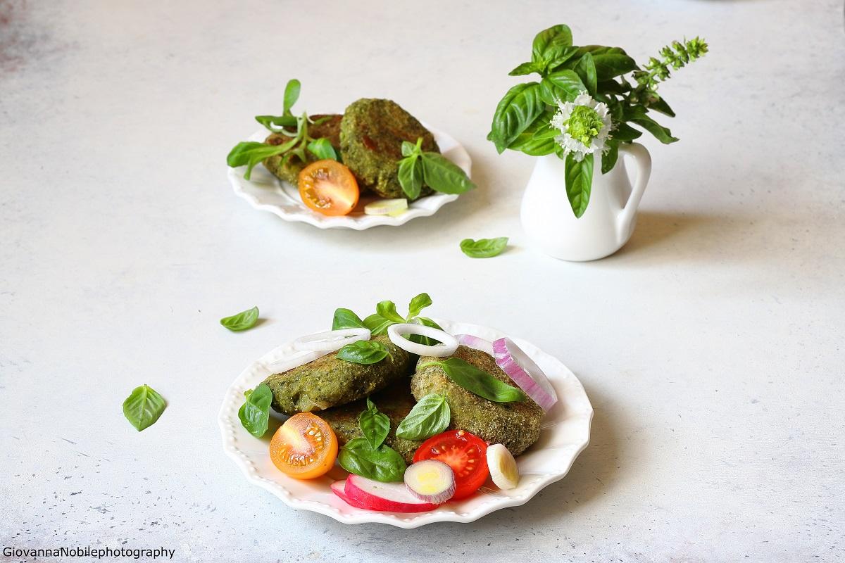 Polpette di patate, basilico e scamorza affumicata