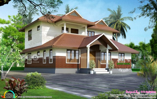 2360 square feet traditional style Kerala home design