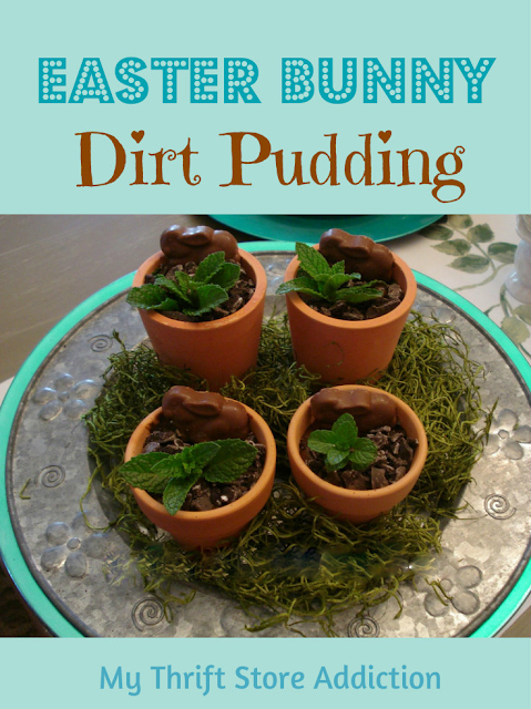 Easter bunny dirt pudding