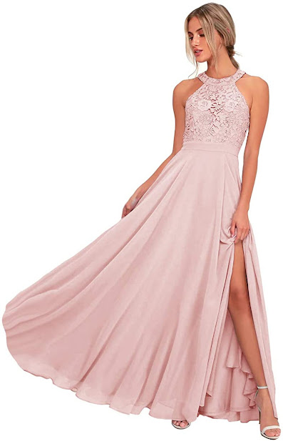 Cheap Chiffon Halter Bridesmaid Dresses