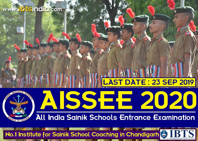 All India Sainik Schools Entrance Examination 2020, Application Form Out!! (Apply Now)