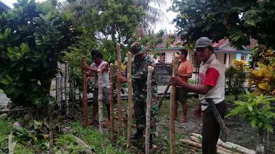 Kemampuan Babinsa Dalam melaksanakan Giat Kerja Bakti Komsos di Desa Binaan