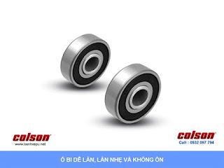 Bánh xe đẩy caster giảm xóc Colson chịu tải 400kg | SB-8509-648BRK1 sử dụng ổ bi bạc đạn banhxedaycolson.com