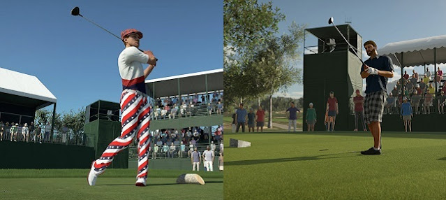 Differences in modes between PGA Tour 2K21 vs Golf Club 2019