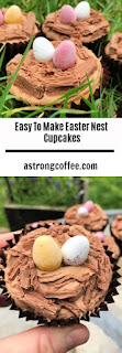 easy to make easter nest cupcakes with mini eggs