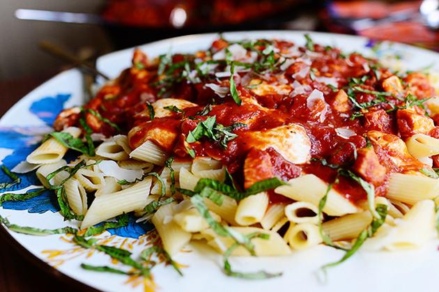 Mozzarella Chicken Pasta