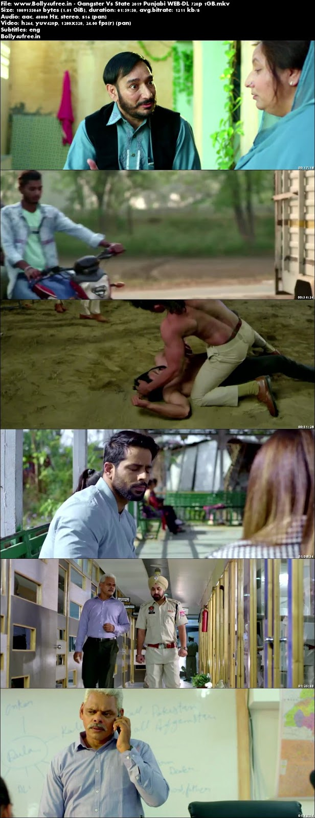 Gangster Vs State 2019 Punjabi WEB-DL 720p 1GB Bolly4ufree.in