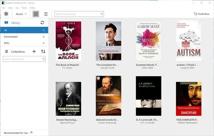أفضل قارئات الكتب الإلكترونية Windows 10 Kindle For Pc